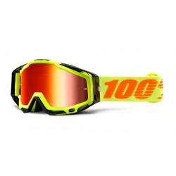 100% Occhiali da Cross Racecraft a Specchio Attack Giallo Maschere Mx Fluo