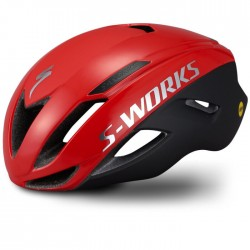 SPECIALIZED CASCO EVADE II mips & angi Satin/Gloss Flo Red/Chrome